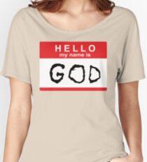 Camiseta ancha para mujer Hola mi nombre es Dios