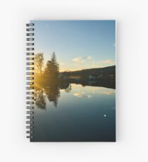 Clouds above the Caledonian Canal  Spiral Notebook