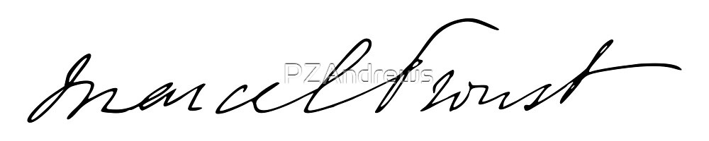 Signature of Marcel Proust by PZAndrews