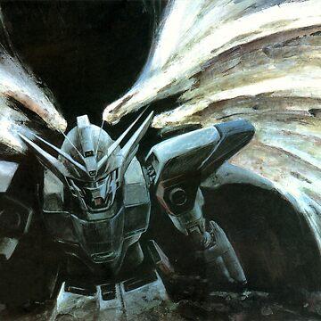 Wing Zero Angel Gundam Wing by lman32