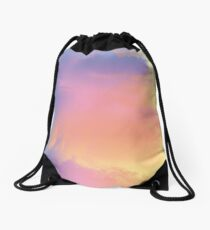 Pastel Clouds Drawstring Bag