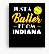 Just A Baller From Indiana Canvas Print