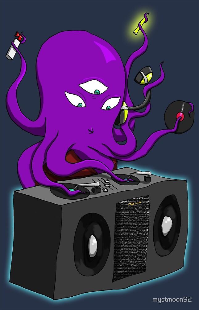 DJ Octopus by mystmoon92