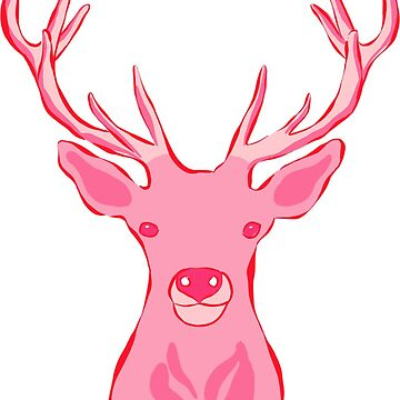 Preppy Pink Stag by JillLouise