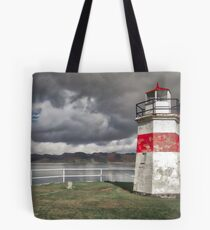 Crinan lighthouse Tote Bag