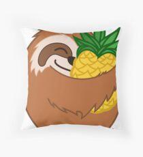 Pineapple Sloth Throw Pillow