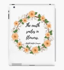 Ralph Waldo Emerson Quote The Earth Laughs in Flowers iPad Case/Skin