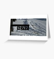 Address to the Snow Greeting Card