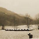 Snow Storm in Poor Valley (sepia) by Linda Costello Hinchey