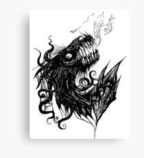 Horror Dark Creature Illustration Canvas Print