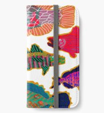 Colorful Abstract Fish Art  iPhone Wallet/Case/Skin