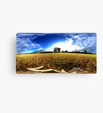 cut wheatfields of west chinnock Canvas Print