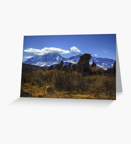 Tufa Towers and the Sierras Greeting Card