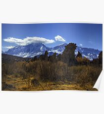Tufa Towers and the Sierras Poster