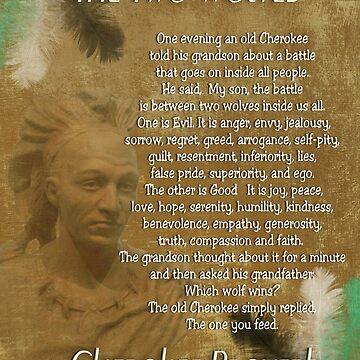 The Two wolves, Cherokee proverb  by Irisangel