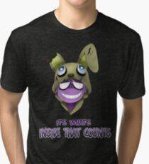 Purple Guy Hoodie Tri-blend T-Shirt