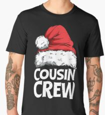 Cousin Crew Santa T shirt Christmas Family Matching Pajamas Men's Premium T-Shirt