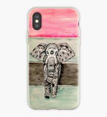 Vinilo o funda para iPhone Elefante tribal zentangle