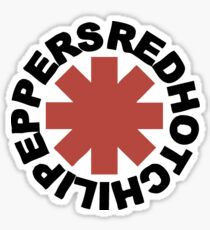 RHCP - Red Hot Chili Peppers  Sticker