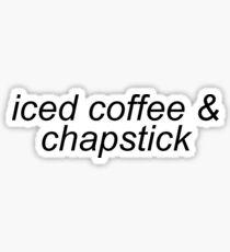Pegatina café helado y chapstick Emma Chamberlain