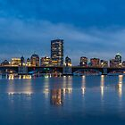 Boston winter night, Longfellow bridge by LudaNayvelt