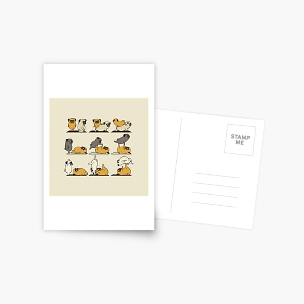 AcroYoga with The Pug Postcard