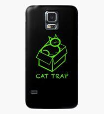 Cat trap, a cat in a box  Case/Skin for Samsung Galaxy