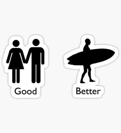 Good Better Surf Sticker