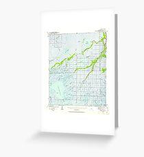 USGS TOPO Map Louisiana LA Bayou Du Large 334263 1940 62500 Greeting Card