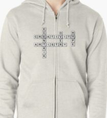 Puzzled Zipped Hoodie