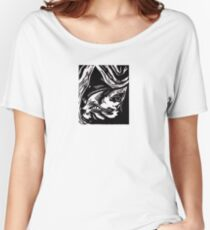 Portrait of Cat Women's Relaxed Fit T-Shirt