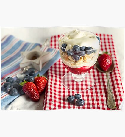 Still Life with Summer Berries Poster