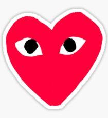 Comme Heart Sticker