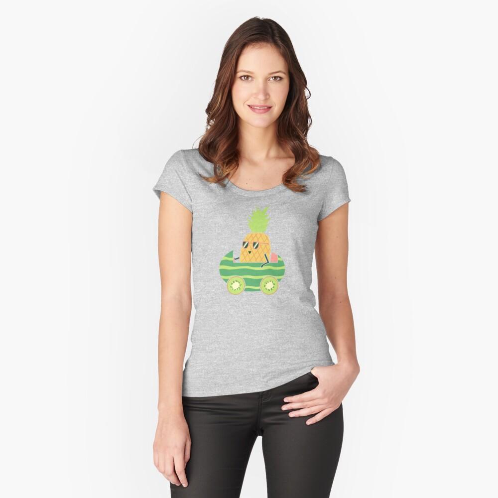 Sommerfahrt Tailliertes Rundhals-Shirt