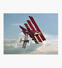 WW1 - Fokker Dr1 - 'One on One' Photographic Print