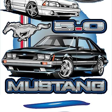MUSTANG FOX BODY 2 CAR 2 SIDED SHIRT SOLD EXCLUSIVELY HERE by wicala