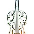 Bunte Violine mit Notizen von AnnArtshock