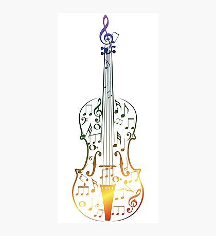 Bunte Violine mit Notizen Fotodruck