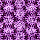 Purple flowers pattern by Costa100