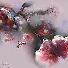 Flowers under attack by Tom Godfrey