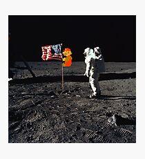 Super Mario On the Moon Photographic Print