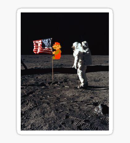 Super Mario On the Moon Sticker