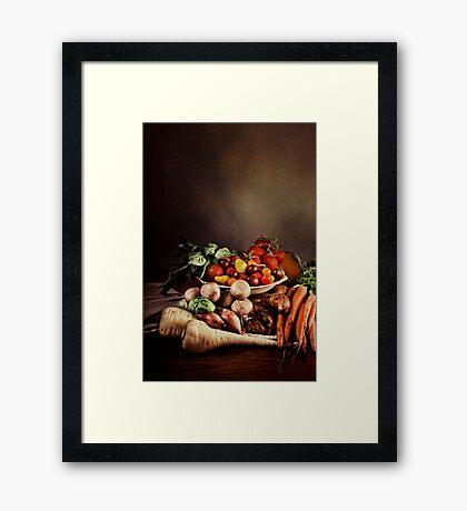 ~ Still Life with Vegetables ~ Framed Print