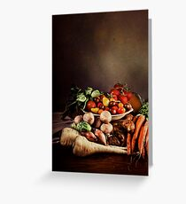 ~ Still Life with Vegetables ~ Greeting Card