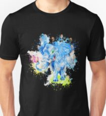 Elephant butterfly happy watercolor painted Unisex T-Shirt