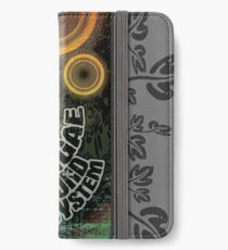 reggae - soundsystem with flowers iPhone Flip-Case/Hülle/Skin