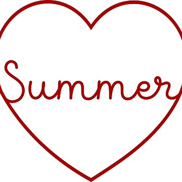 Summer Hand Lettering Heart Shape by xsylx
