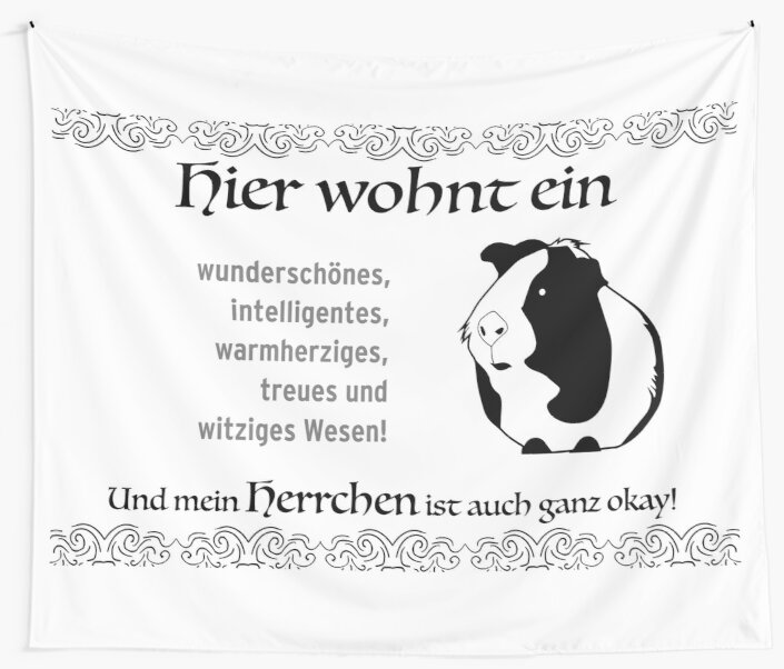Guinea pig design for rodent fans. My master is okay too by qwerdenker