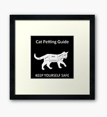 Cat Petting Guide Framed Print