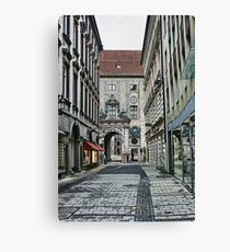 Munich Back Streets Canvas Print
